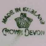 Crown Devon crown backstamp