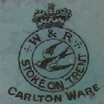 Carlton Ware W&R Crown and Swallow Backstamp