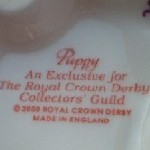Royal Crown Derby Collectors Guild pottery mark