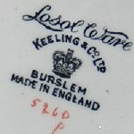 Keeling and Co Losol Ware Backstamp Information : Perfect Pieces