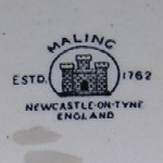 Maling Castle Stamp pottery mark