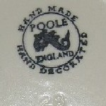 Hand Made Hand Decorated Poole England dolphin mark
