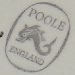 Poole England dolphin backstamp
