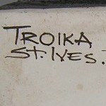 Troika St Ives Black painted pottery marks