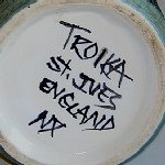 Troika St Ives England Black Painted Backstamp