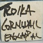 Troika Cornwall England painted mark in Black