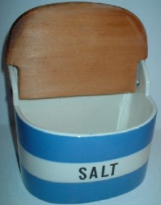 TG Green Cornishware salt container