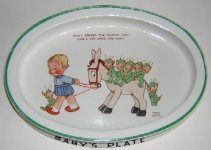 Shelley Mabel Lucie Attwell Boo-Boo series baby's plate