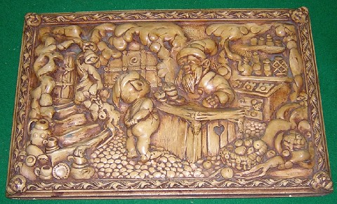 Original PenDelfin Fairy Shop Plaque, signed by JWH