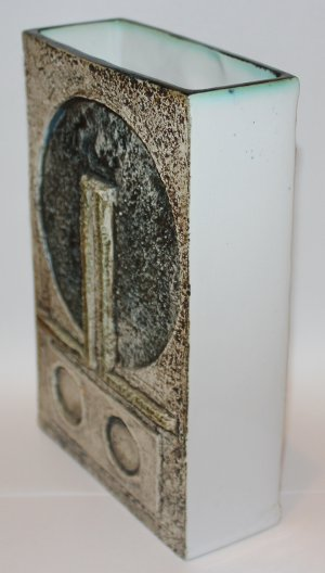 Troika Vase Decorated By Linda Taylor - Troika Slab Vase