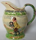 Crown Devon Fieldings Musical Jug - On Ilkla Moor Baht'at