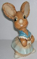 Retired Pendelfin Rabbit  Thin Neck Mother, Designed by Jean Walmsley Heap c1956.