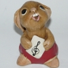 Early PenDelfin Rabbit Rolly Designed by Jean Walmsley Heap - With Unusual Treble Clef